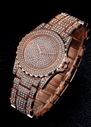 Часы женские с золотистым браслетом код 616