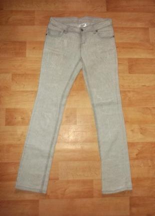 Распродажа джинс ускачи серые терка стречь классика р. l-xl  - fen