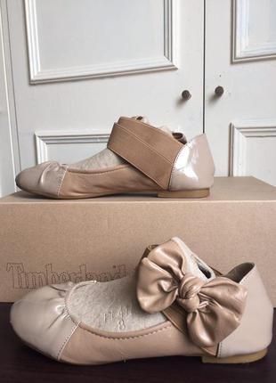 Коричневые бежевые нюдовые балетки на резинке с бантиком inblu