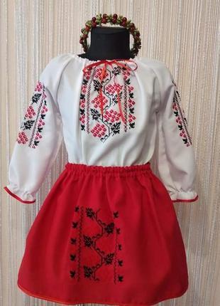 Вишиванка на дівчинку. український костюм дитячий