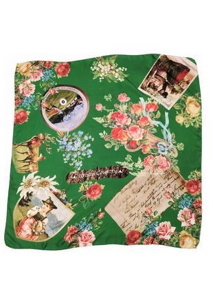 Шикарный винтажный  коллекционный шелковый платок striessnig wien /2457/