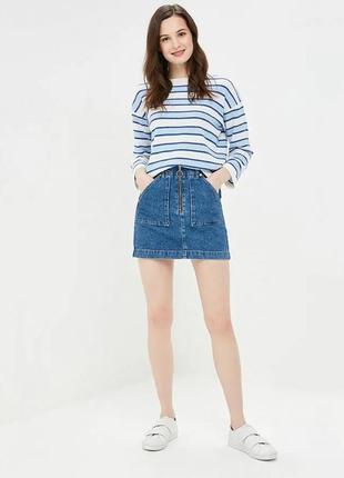 Стильная джинсовая мини юбка тренд