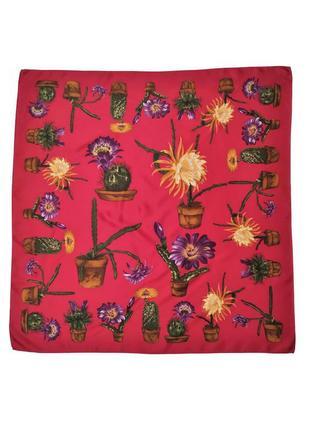 Красивый коллекционный шелковый платок  стиль hermes  италия /2458/