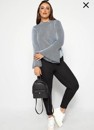 Женская блуза широкий рукав в рубчик / жіноча блуза широкий рукав