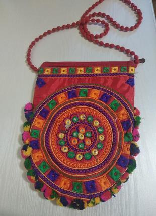 Этно сумка с вышивкой, ручной работы.