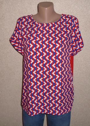 Кольорова блуза в орнамент\блузка\футболка\разноцветная блуза