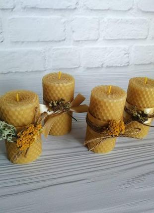 Набор свечей из вощины