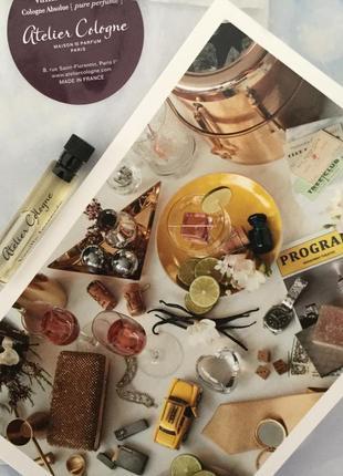 Пробник парфюма atelier cologne vanille insensee