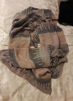 Шарф мягчайший в нюдовых тонах натуральный состав кашемир шерсть полиамид