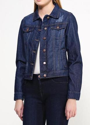 Джинсовый пиджак с боковыми карманами размер 10-12 dorothy perkins