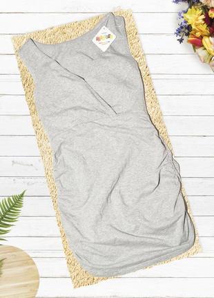 Новое серое эластичное платье tophere