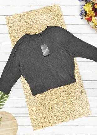 Новый вискозный серый оверсайз свитер zara
