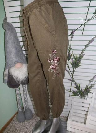 Хаки джогеры штаны на резинке new look