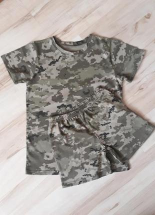 Футболка камуфляжна, футболка для хлопчика