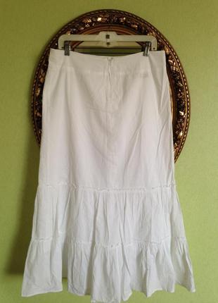 Длинная юбка с оборками