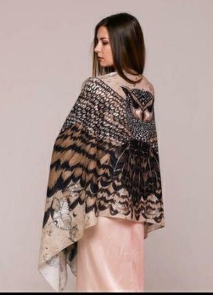 Шёлковый платок с совой бренда zlitay