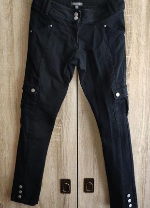 Черные брюки  на девочку 13-14 лет с карманами