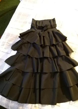 Красивейшая 💘💯💫многоярусная юбка италия