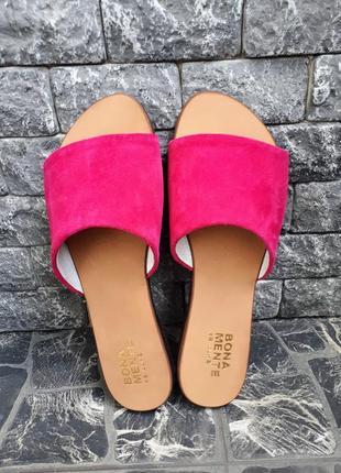 Замшевые шлёпанцы розовые р34-42 сандалии шлепки тапки сланцы тапочки шльопанці сандалі4 фото