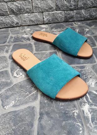Замшевые шлёпанцы розовые р34-42 сандалии шлепки тапки сланцы тапочки шльопанці сандалі8 фото