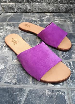 Замшевые шлёпанцы розовые р34-42 сандалии шлепки тапки сланцы тапочки шльопанці сандалі7 фото