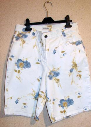 Marco pecci италия винтажные шорты в цветочек высокая талия