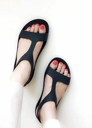 Крокс серена черные сандалии босоножки crocs serena sandals