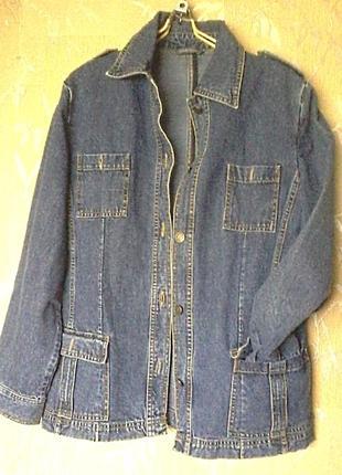 Джинсовая легкая курточка100% сotton,размер на l-xl