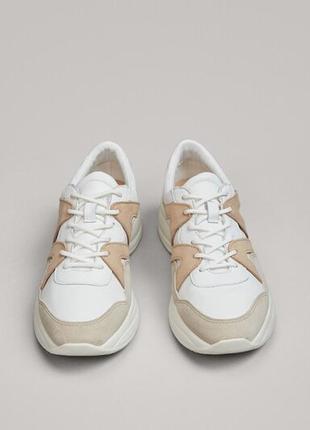 💥-30% кожаные ,мягенькие кроссовки massimo dutti.