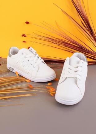 Стильные белые кроссовки криперы кеды модные кроссы