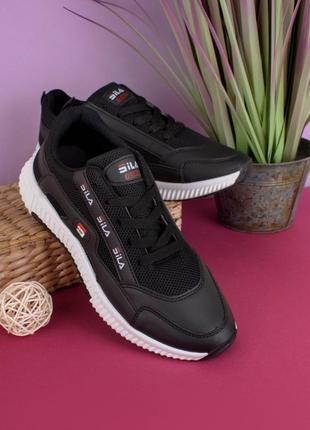 Стильные черные кроссовки сетка на платформе толстой подошве модные кроссы
