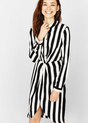 Платье рубашка bershka  100%вискоза