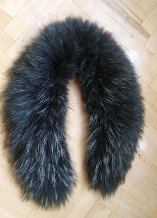 Воротник на куртку, пальто чернобурка мех