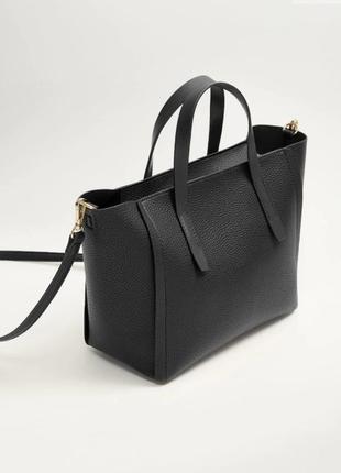 Чёрная сумка mango