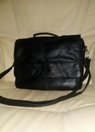 Шикарная мужская сумка visconti. оригинал. кожа.англия