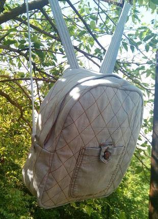 Джинсовый рюкзак 002