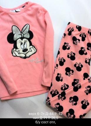 Пижама,  пижамка, набор, костюм, комплект дисней с мини (мики) 6-7 лет