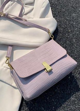 Женская сумка через плечо,розовая сумочка кроссбоди , сумка на плечо с длинным ремешком