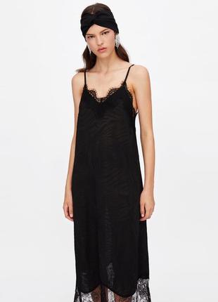 Платье из последних коллекций в бельевом стиле 🖤🔥