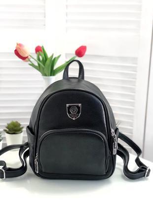 Стильний чорний рюкзачок
