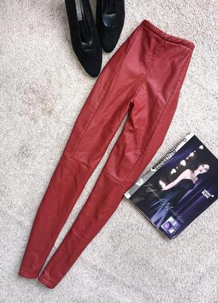 Шкіряні штани  на флісі / кожаные штаны на флисе