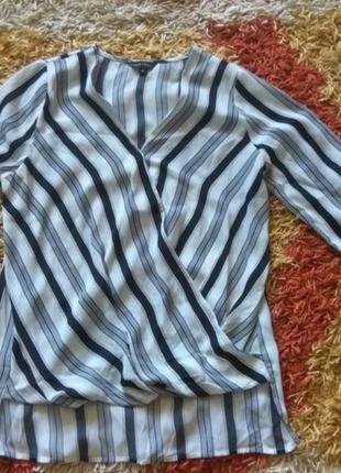 Необычная чёрно-белая блуза от бренда new look