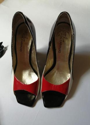 Стильные туфли босоножки с открытым носком, р 37