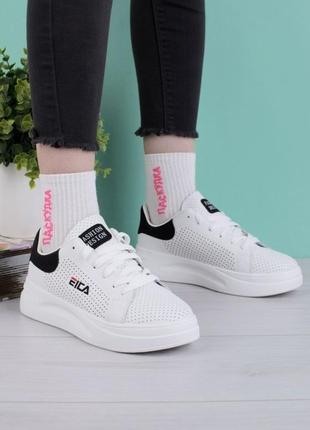 Стильные белые кроссовки криперы кеды на платформе толстой подошве с перфорацией