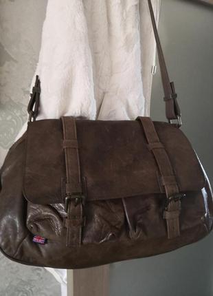 Vip! шикарная брендовая брутальная кожаная сумка belstaff, англия🔥🔥🔥👜💥