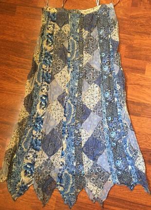 Красивая юбка в стиле пэчворк