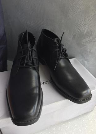 Ботинки чёрные кожаные мужские демисезон весна осень