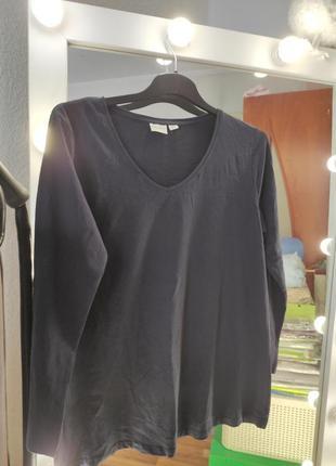 Женская футболка длинный рукав большой размер