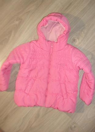 Теплая куртка некст на 5-6лет рост 116