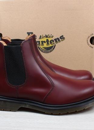 Мужские кожаные ботинки dr.martens chelsea оригинал, размер 46 (челси cherry)